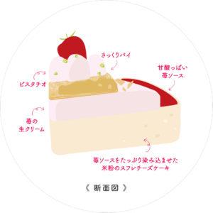 苺ミルフィーユなチーズケーキ